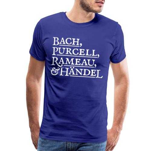 Fab Four of Early Music - Men's Premium T-Shirt