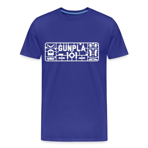 Gunpla 101 Men's T-shirt — Zeta Blue - Men's Premium T-Shirt