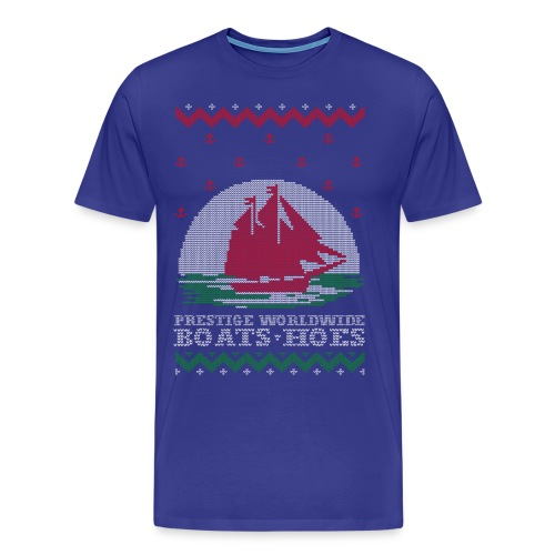 Boats and hoes Ugly Christmas Sweater - Men's Premium T-Shirt