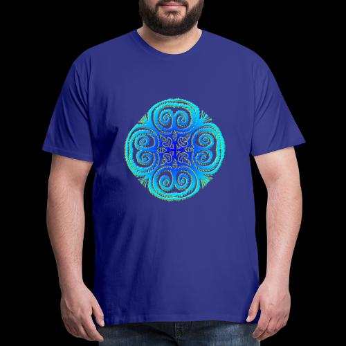 Blue Mandala - Men's Premium T-Shirt