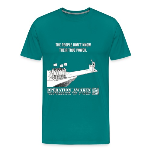 peoplepower clear png - Men's Premium T-Shirt