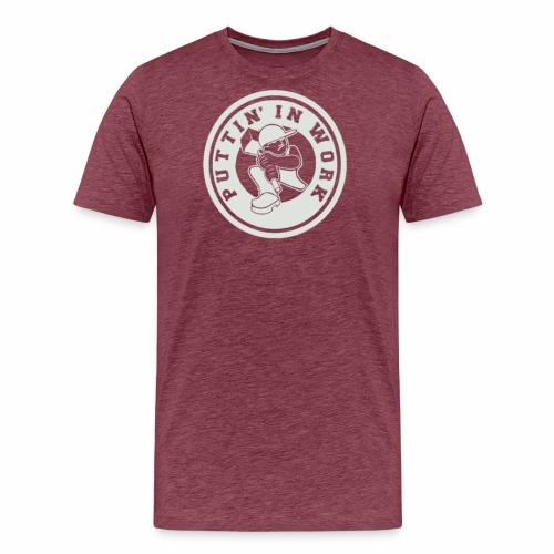 P.I.W White Logo - Men's Premium T-Shirt