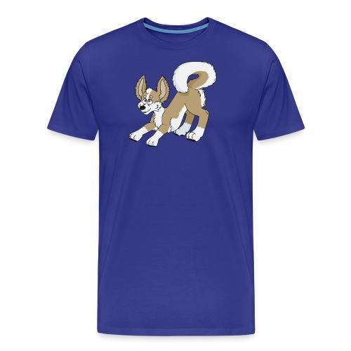 Crouching Chihuahua - Men's Premium T-Shirt