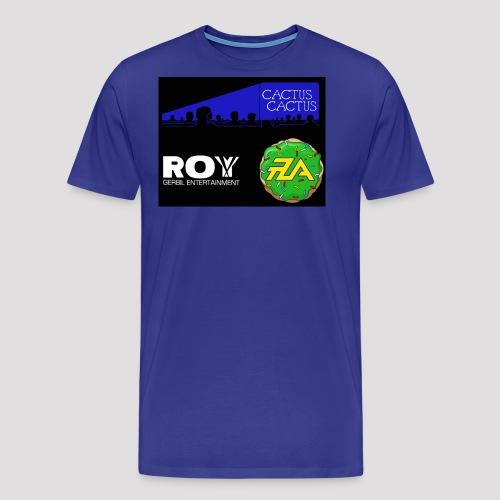 A_Cactus_DarkBlue - Men's Premium T-Shirt