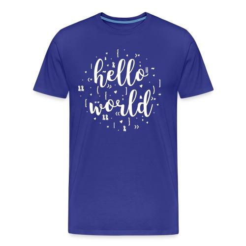 hello world one color - Men's Premium T-Shirt