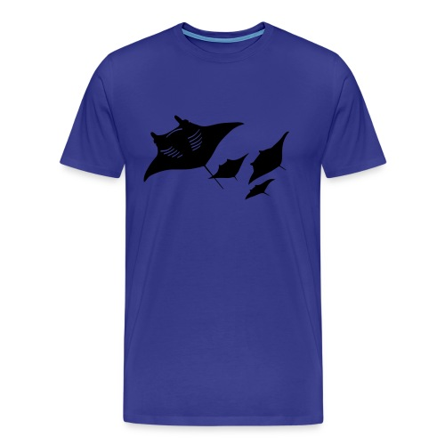 manta ray sting scuba diving diver dive - Men's Premium T-Shirt