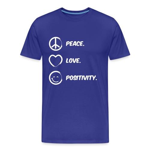 Peace, Love and Positivity Tee - Men's Premium T-Shirt
