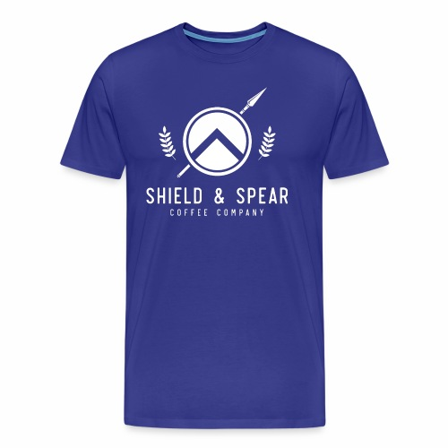 Shield and Spear White Logo - Men's Premium T-Shirt