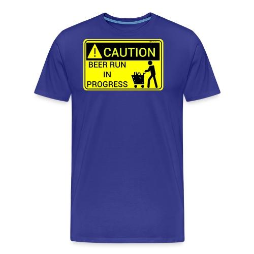 Caution Beer Run In Progress - Men's Premium T-Shirt