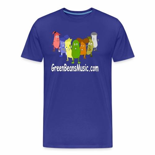 Green Bean's Music Apparel White Logo - Men's Premium T-Shirt