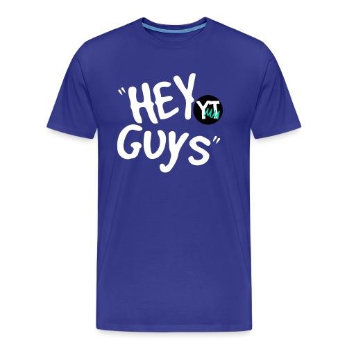 Hey Guys White Letter Green png - Men's Premium T-Shirt