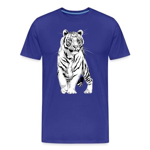 Stately White Tiger - Men's Premium T-Shirt