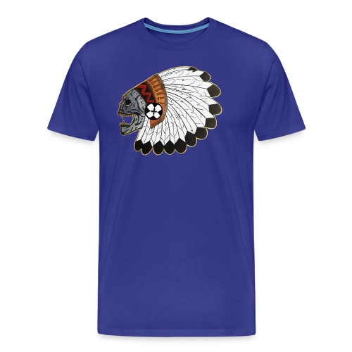 Indianskullwithheaddress - Men's Premium T-Shirt