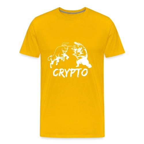 CryptoBattle White - Men's Premium T-Shirt