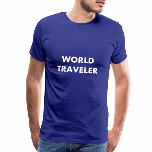 World Traveler White Letters - Men's Premium T-Shirt