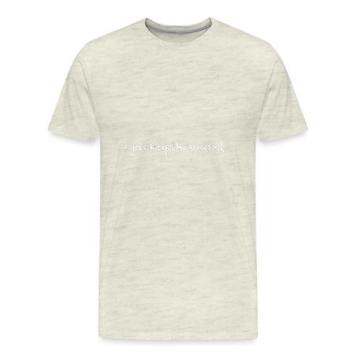 Pick up the poo dog shirt - Men's Premium T-Shirt
