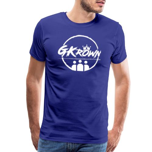 GKrown Logo White - Men's Premium T-Shirt