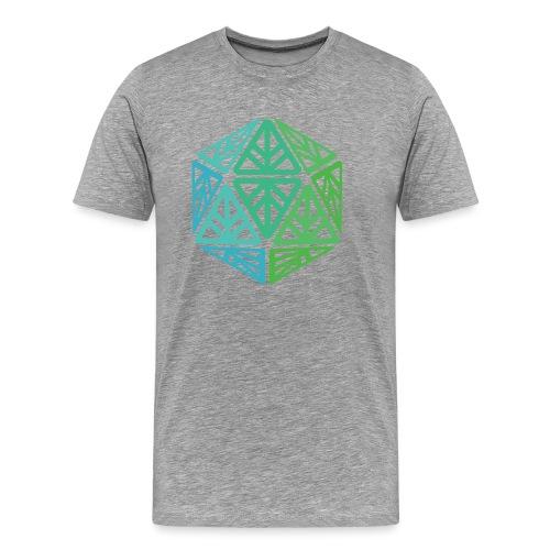 Green Leaf Geek Iconic Logo - Men's Premium T-Shirt