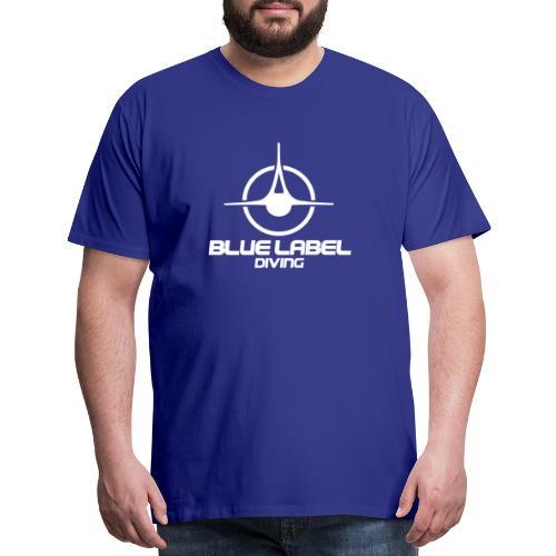 BLD logo with text white - Men's Premium T-Shirt