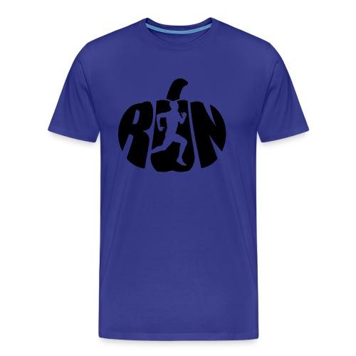 Halloween Running Pumpkin - Men's Premium T-Shirt