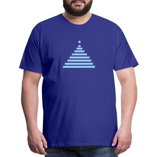 light blue christmas - Men's Premium T-Shirt