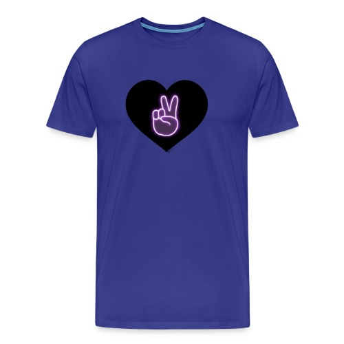 Peace victory Dolan twins sign in a love heart - Men's Premium T-Shirt