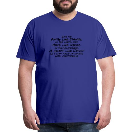 Face Your Giants with Confidence - Men's Premium T-Shirt