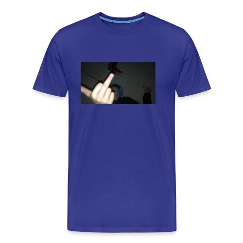 hoodlem giving the finger - Men's Premium T-Shirt