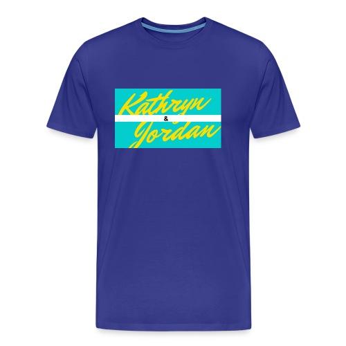 Kathryn and Jordan Logo - Men's Premium T-Shirt
