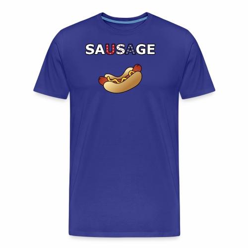 Patriotic BBQ Sausage - Men's Premium T-Shirt