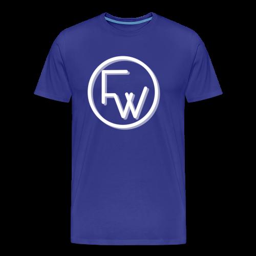 A Funny Wilson Production Logo White - Men's Premium T-Shirt