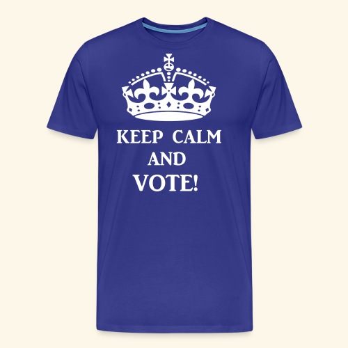 keep calm vote wht - Men's Premium T-Shirt