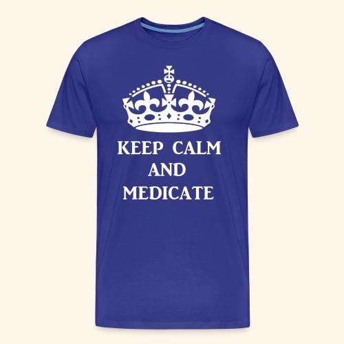 keep calm medicate wht - Men's Premium T-Shirt