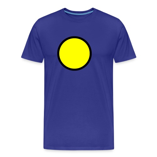 Circle yellow svg - Men's Premium T-Shirt