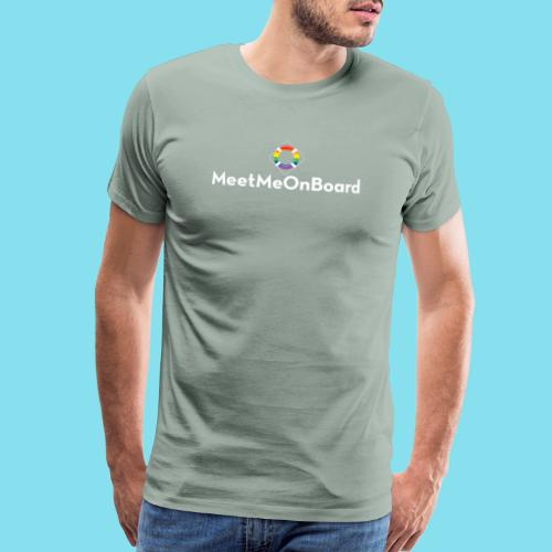 MMOB_logo_vert_whitetype - Men's Premium T-Shirt