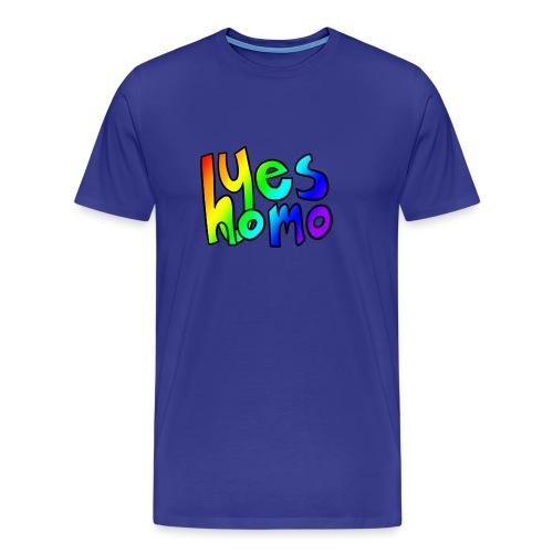 Yes Homo (Rainbow) - Men's Premium T-Shirt