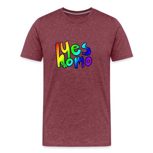 Yes Homo (Rainbow) - Men's Premium T-Shirt