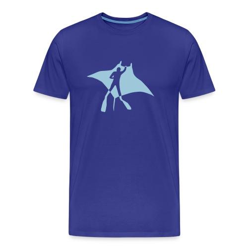 manta ray sting scuba diving diver dive fish ocean - Men's Premium T-Shirt