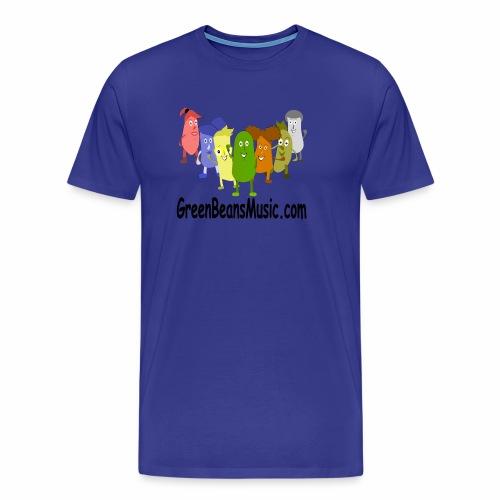 Green Bean's Music Apparel Black Logo - Men's Premium T-Shirt