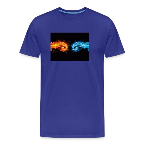 fire fist vs water fist DPOY Logo - Men's Premium T-Shirt