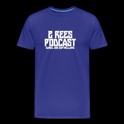 2 REES Podcast Logo (White) - Men's Premium T-Shirt