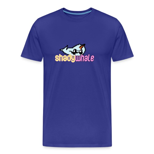 Shady Whale logo png - Men's Premium T-Shirt