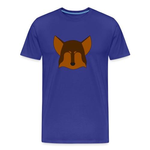 Simple Wolf Head - Men's Premium T-Shirt