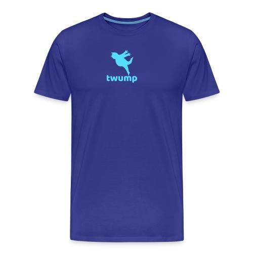 Twump Social Media Bird Logo of Chirping Trump - Men's Premium T-Shirt