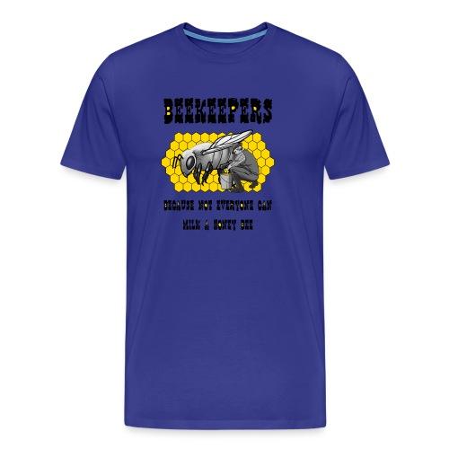beekeepers honey bee black words - Men's Premium T-Shirt