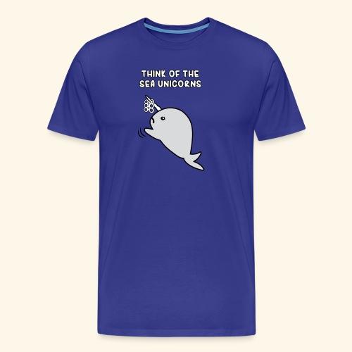 Think of the Sea Unicorns - Men's Premium T-Shirt