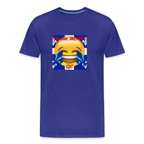 T-Shirt Normie Memes QC BLEU ROI - Men's Premium T-Shirt