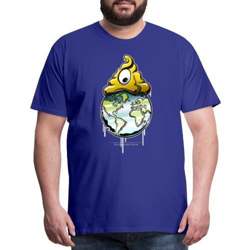 shit rules the world - Men's Premium T-Shirt