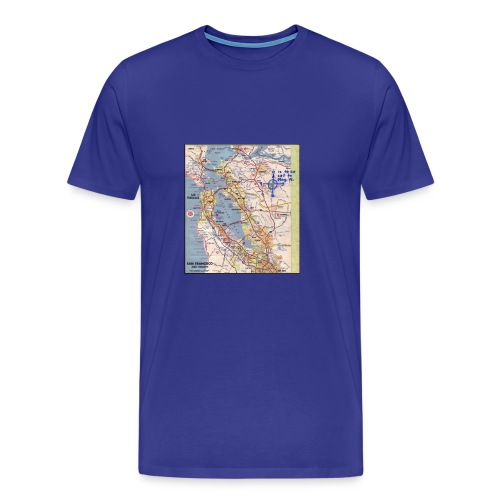 Phillips 66 Zodiac Killer Map June 26 - Men's Premium T-Shirt