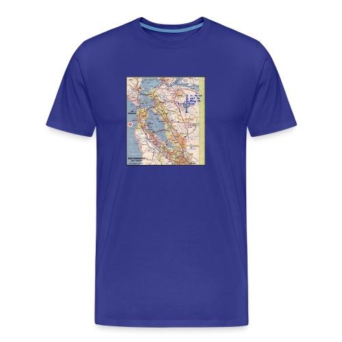 Phillips 66 Zodiac Killer Map June 26 - Men's Premium T-Shirt